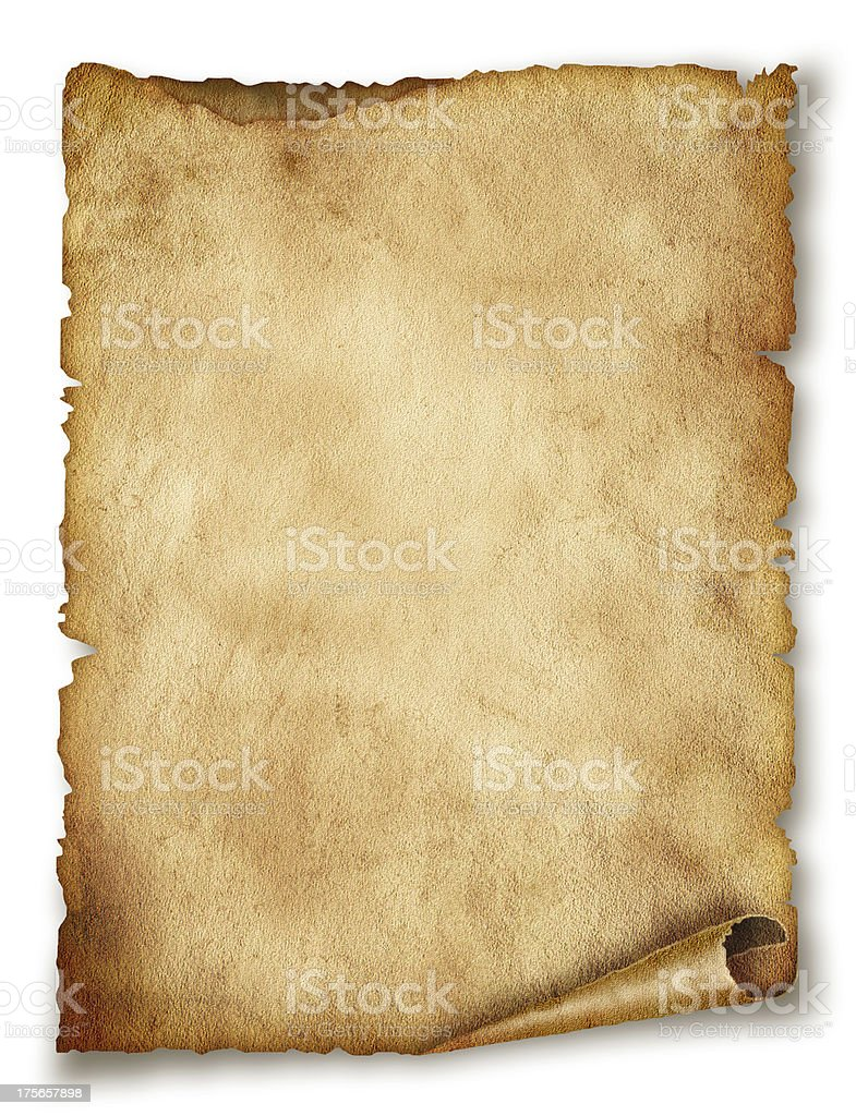 Old paper sheet. Original background or texture stock photo