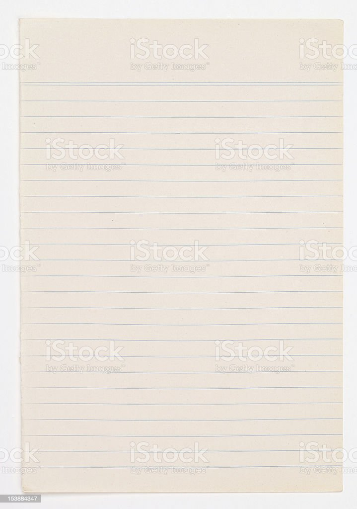 Old paper texture on white background. royalty-free stock photo