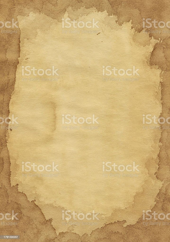 Old paper. Torn divorce vinegar around the edges. royalty-free stock photo