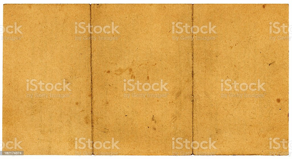 old paper two folds royalty-free stock photo