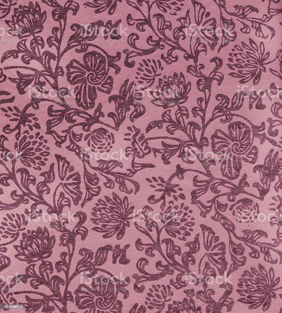 old paper with Art Nouveau floral pattern royalty-free stock photo