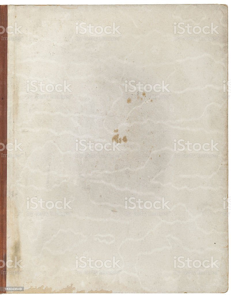 Old paper with binding edge and pattern texture royalty-free stock photo