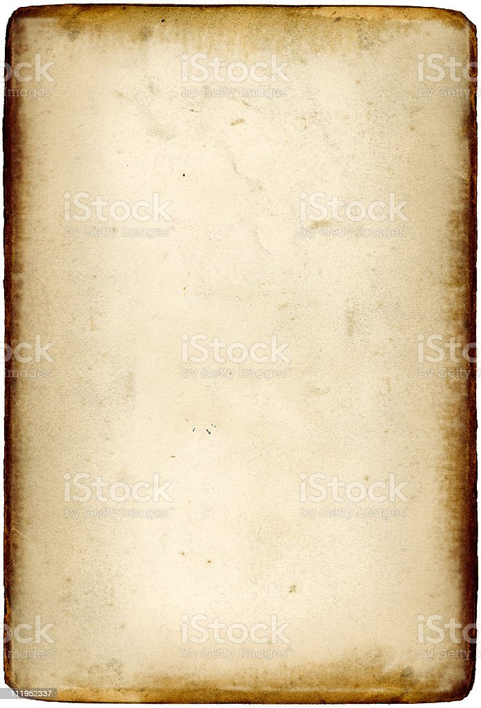 Old paper with browned edges royalty-free stock photo