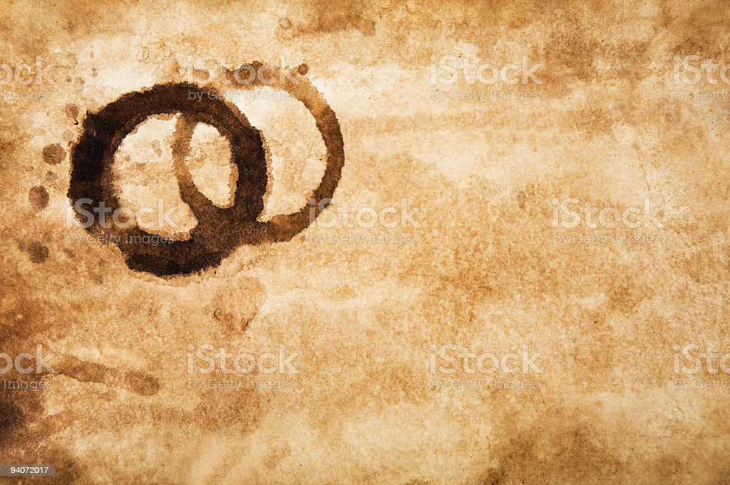 Old Paper with Coffee Stains stock photo
