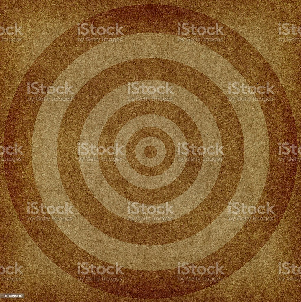 Old Paper with Concentric Circles royalty-free stock photo