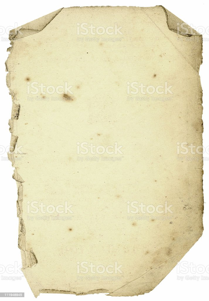 Old paper with creased edges. royalty-free stock photo