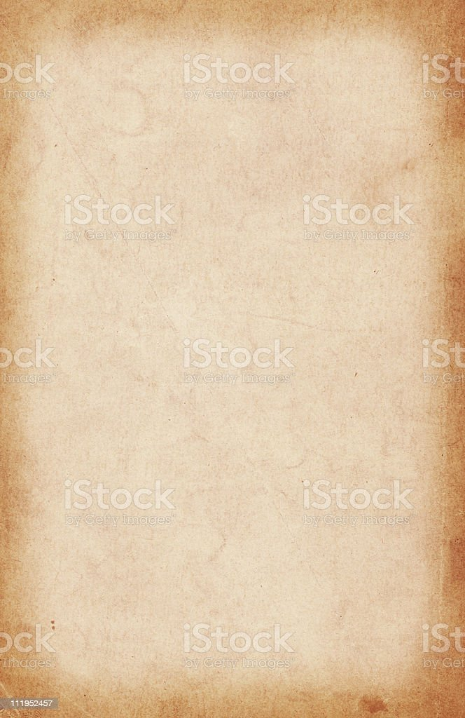Old paper with darkened edges royalty-free stock photo