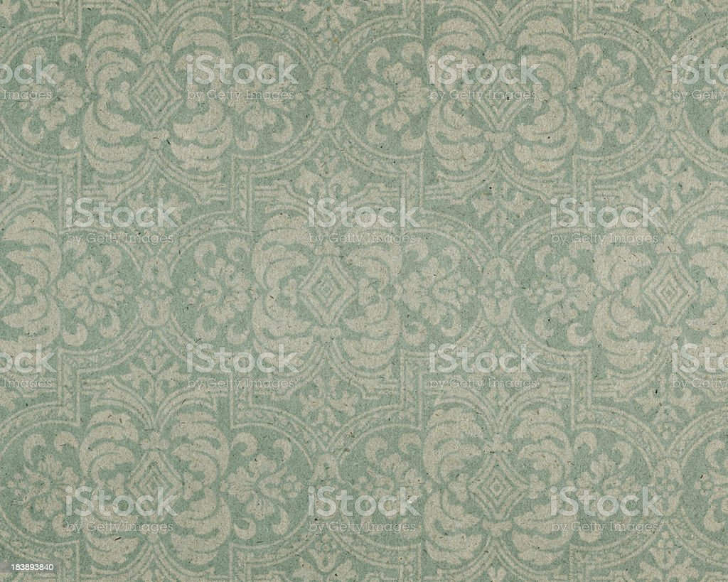 old paper with floral pattern royalty-free stock photo
