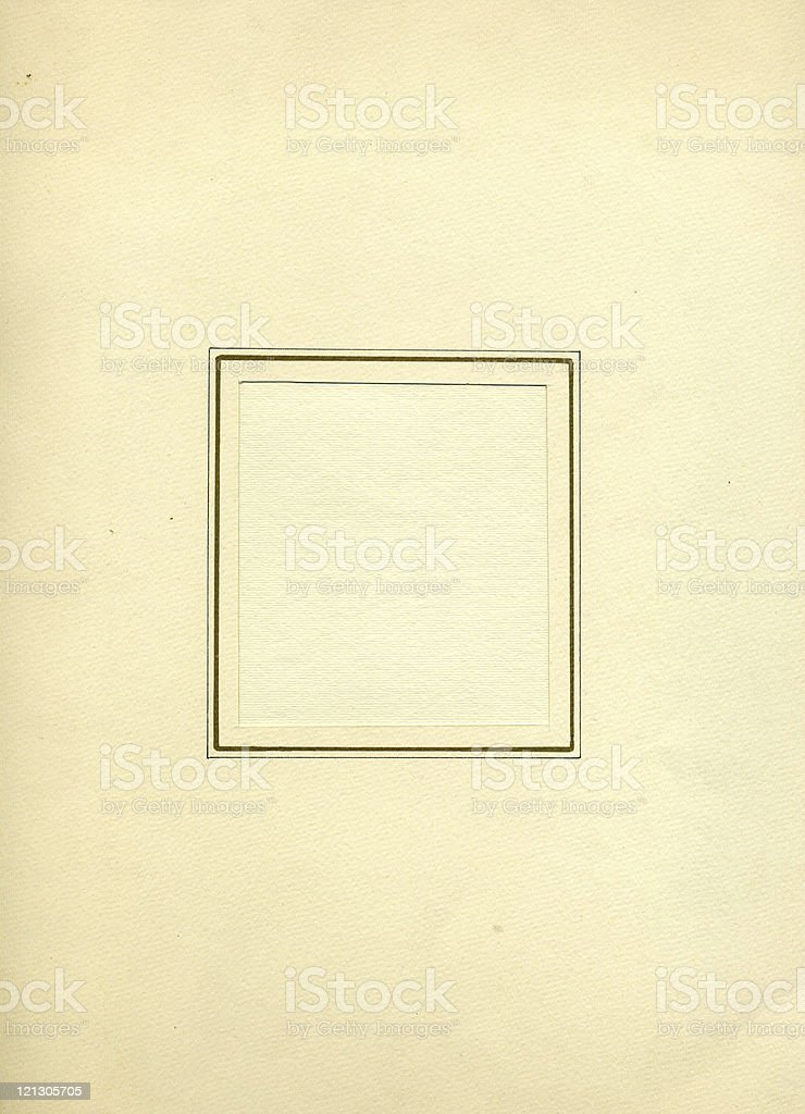 old paper with frame royalty-free stock photo