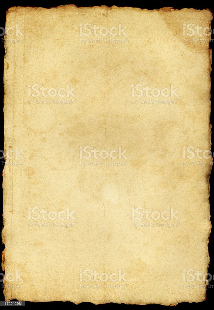 old paper with frayed edges royalty-free stock photo