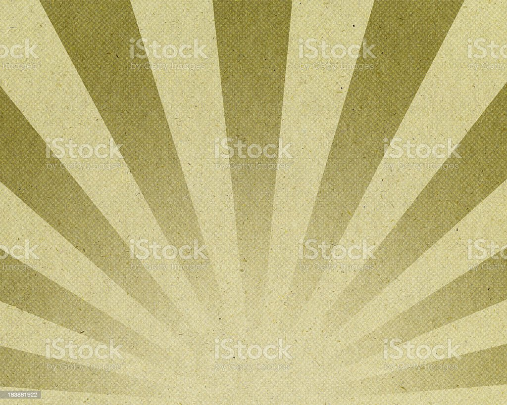 old paper with green ray halftone pattern royalty-free stock photo