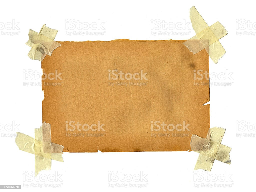 Old Paper with Masking Tape royalty-free stock photo
