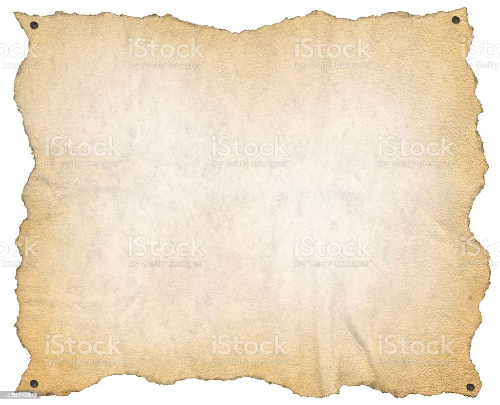 Old Paper with Nails stock photo