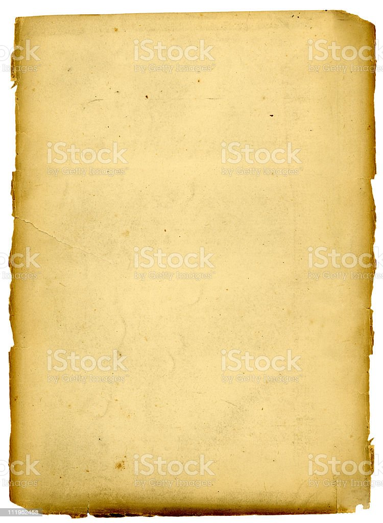 Old paper with ragged edges royalty-free stock photo