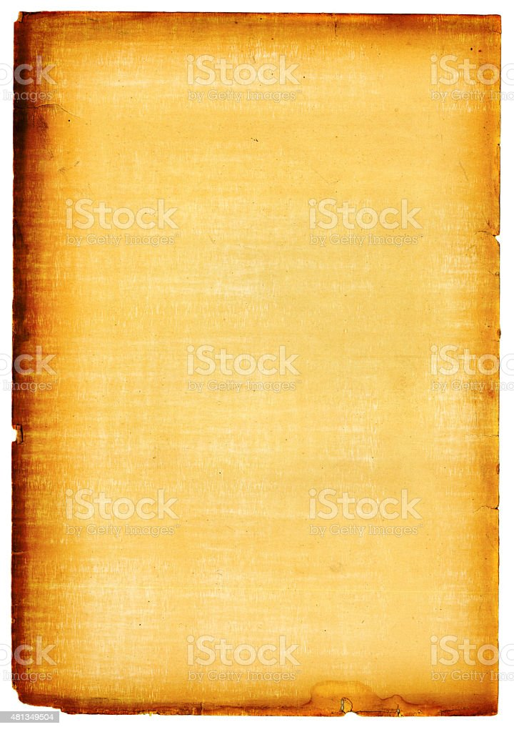 Old Paper with Ragged Edges stock photo
