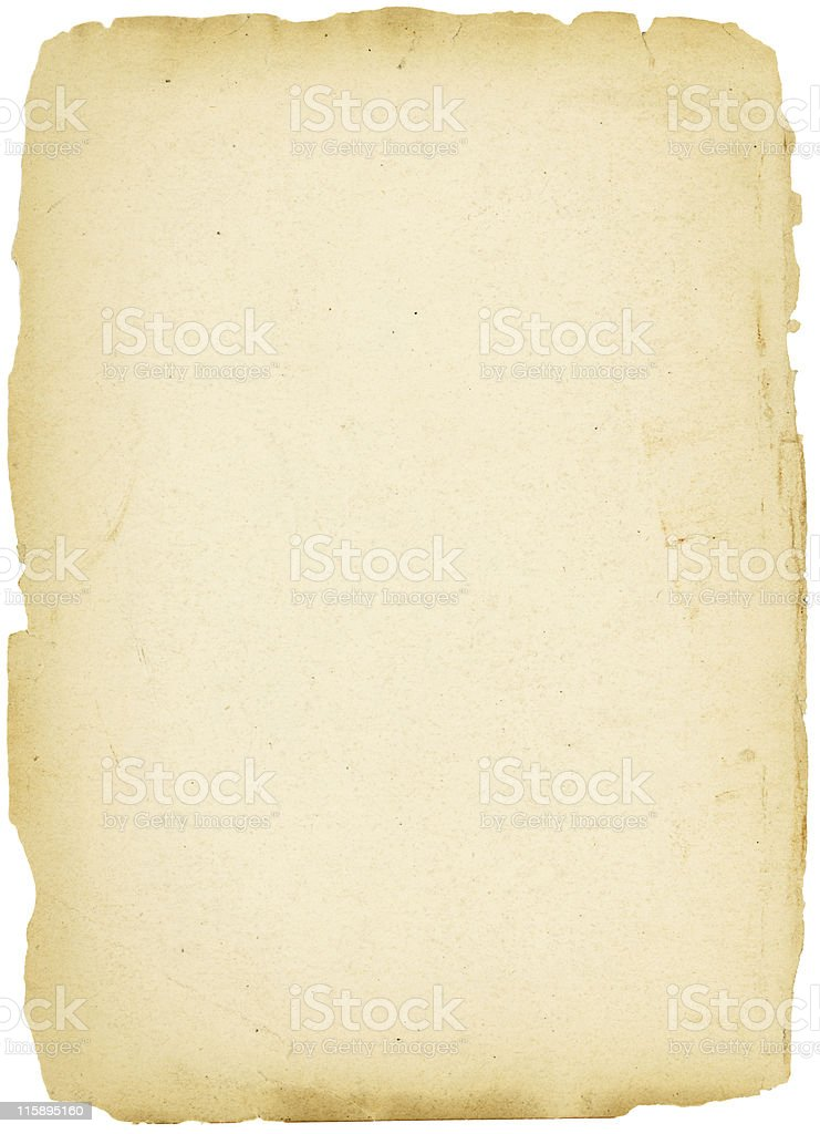 Old paper with rough edges stock photo