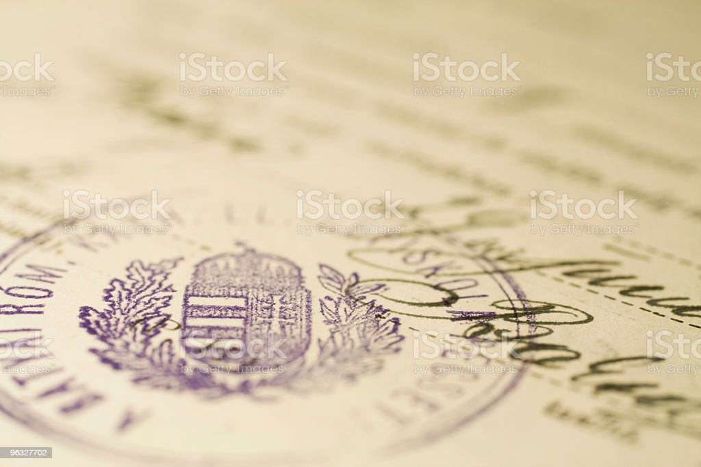 Old paper with seal stock photo