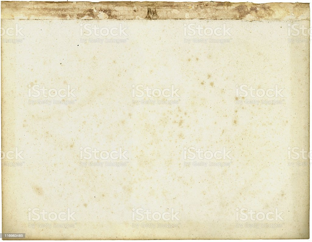 Old paper with stained top stock photo
