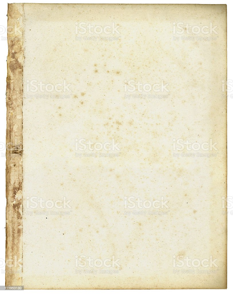 Old paper with tape stained edge royalty-free stock photo