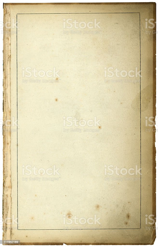 Old paper with thin internal frame royalty-free stock photo
