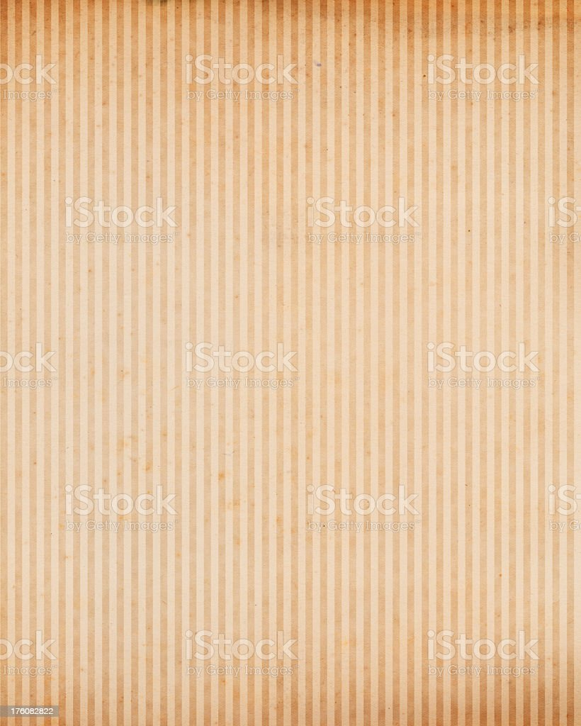 High resolution old paper with vertical lines stock photo