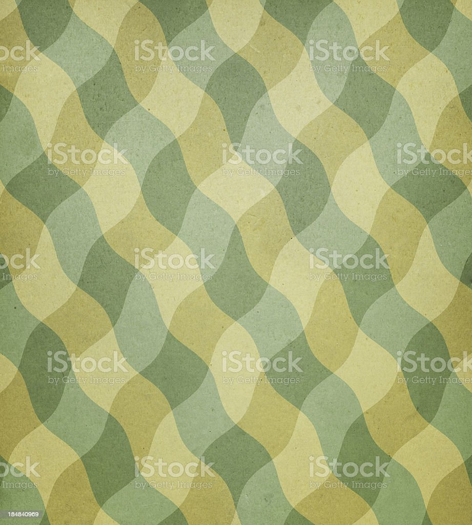 old paper with wavy plaid pattern royalty-free stock photo