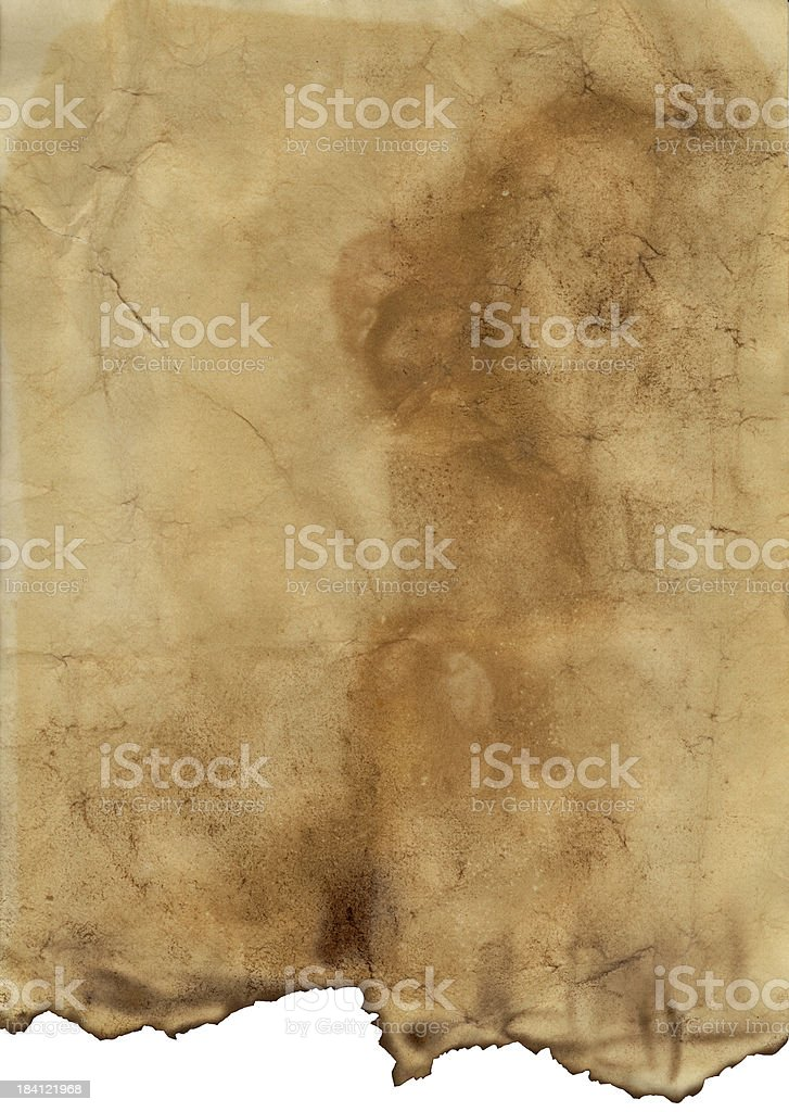 Old paper  -  XXL size with clipping path stock photo