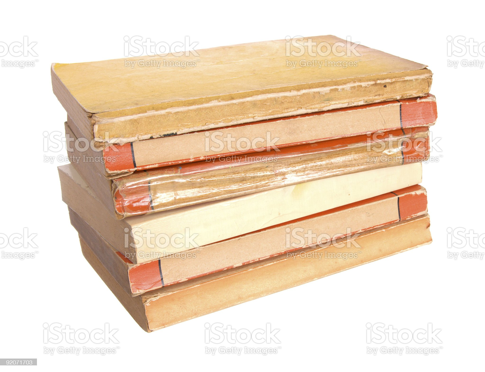 Old paperback books royalty-free stock photo