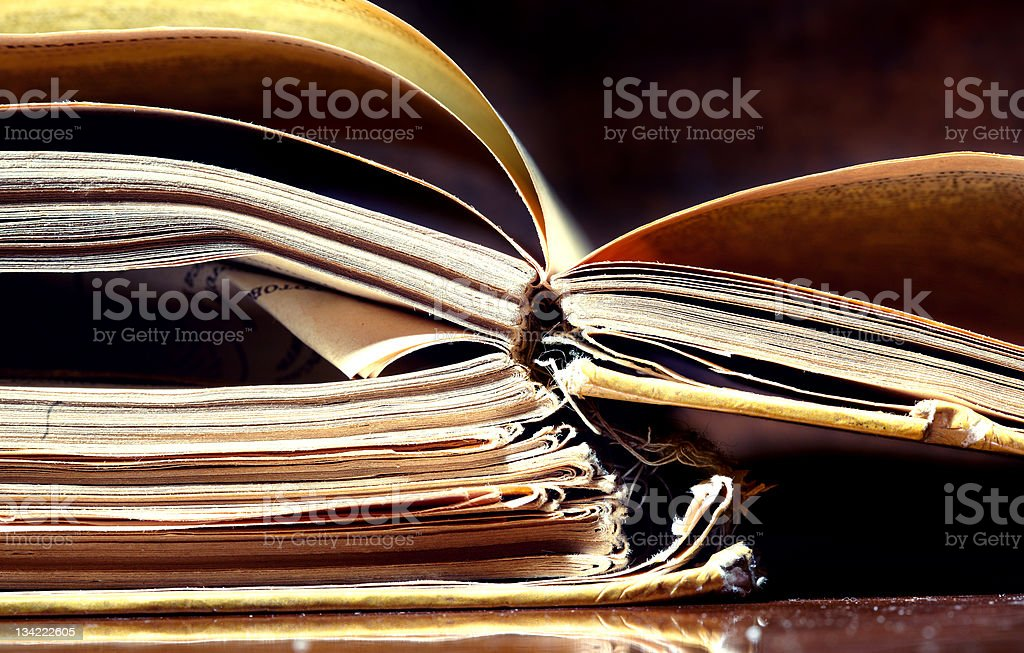 Old papers and books royalty-free stock photo