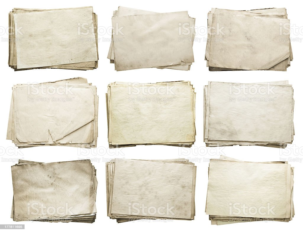 old papers set royalty-free stock photo