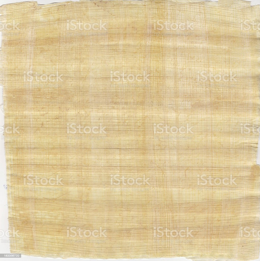 Old papyrus paper background stock photo