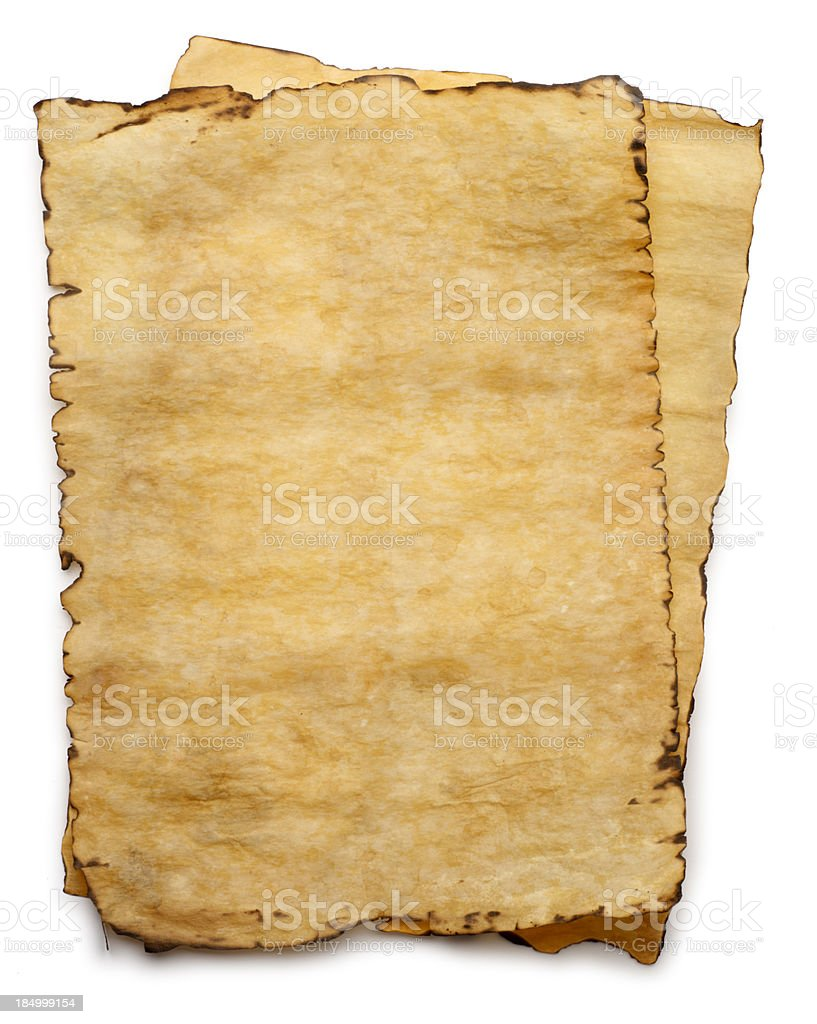 Old Parchment Paper stock photo