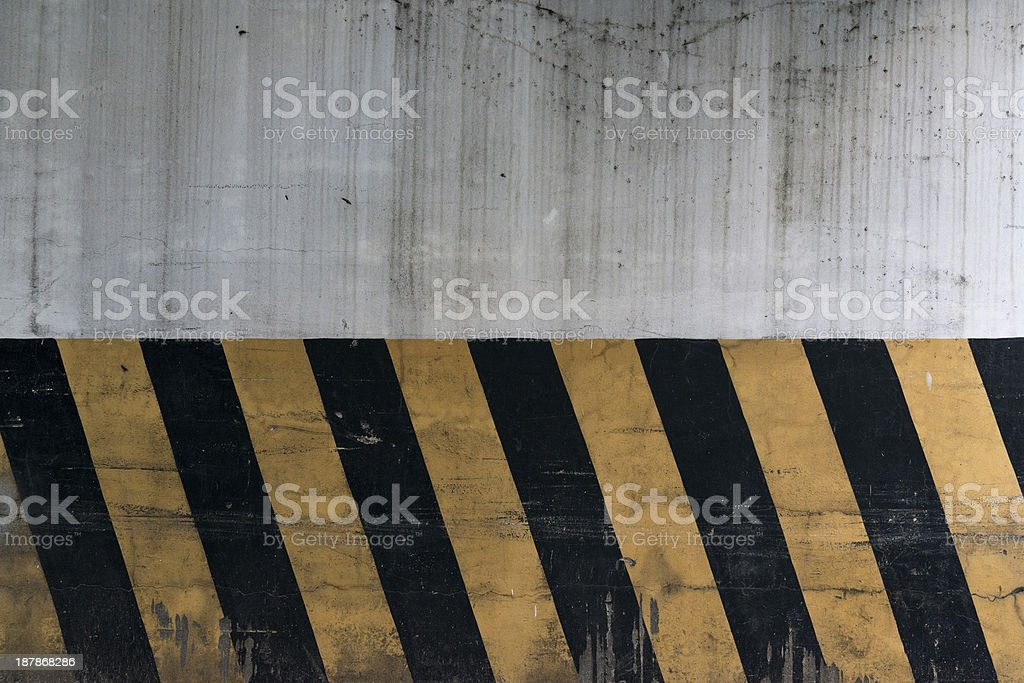 Old Parking Lot wall stock photo