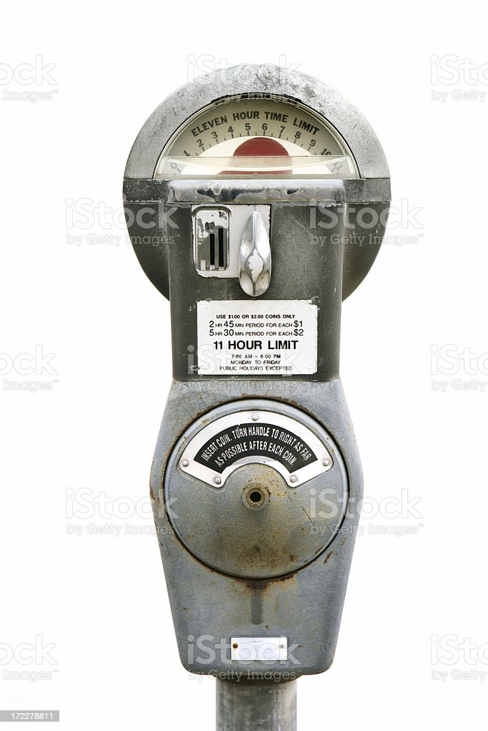 Old Parking Meter stock photo