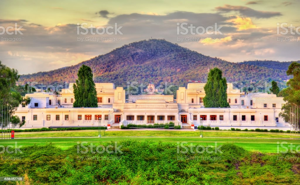 Old Parliament House, served from 1927 to 1988. Canberra, Australia stock photo