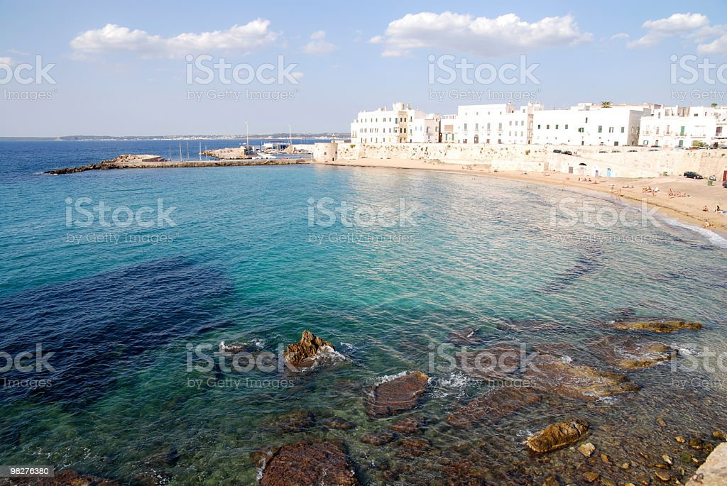 Old part of Gallipoli with magnificent bay stock photo
