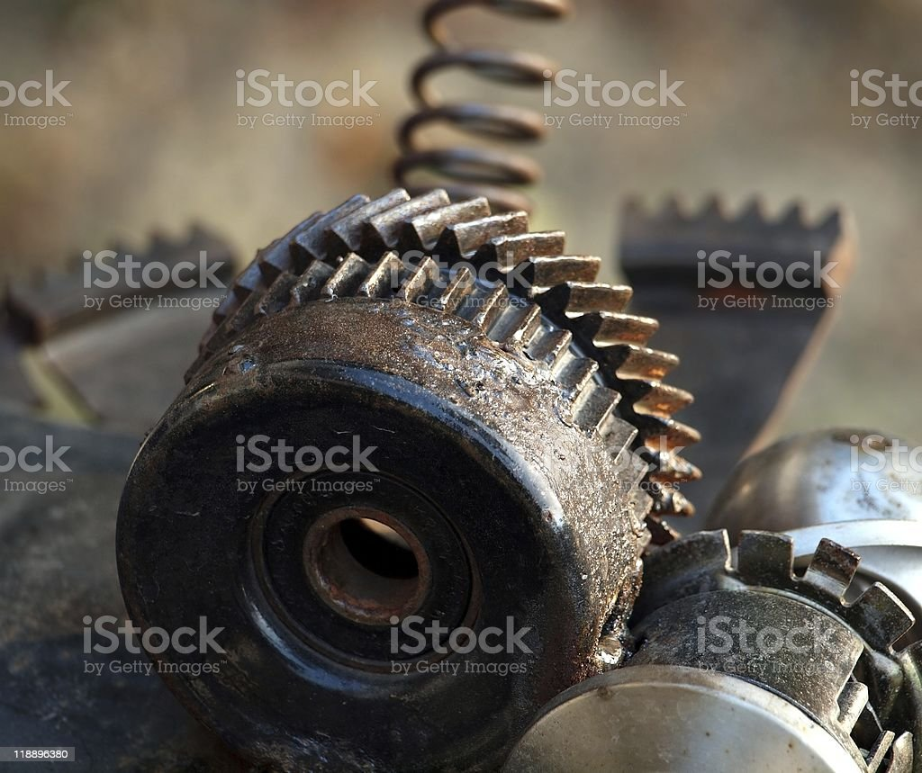Old Parts of Machinery stock photo