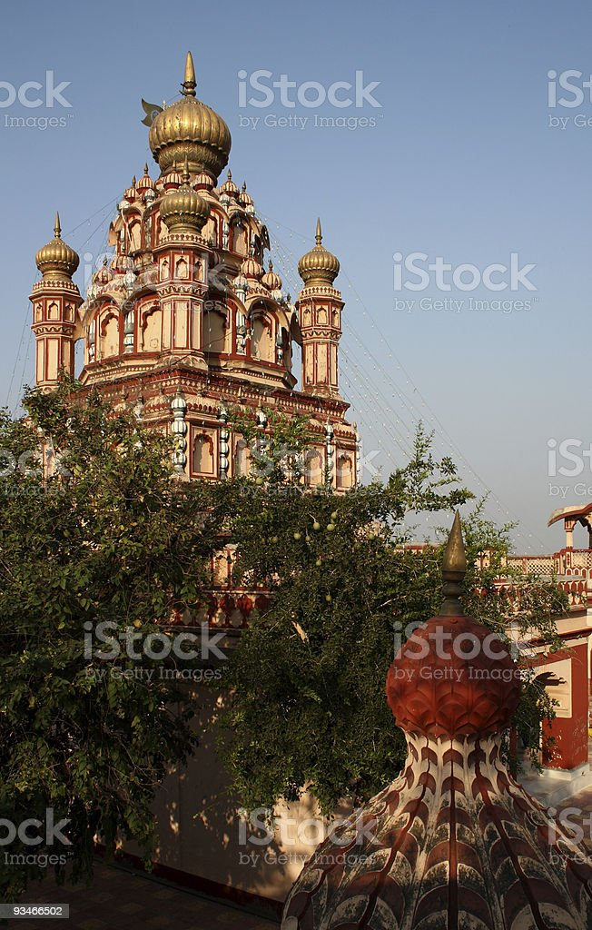 Old Parvati temple at Pune in India stock photo