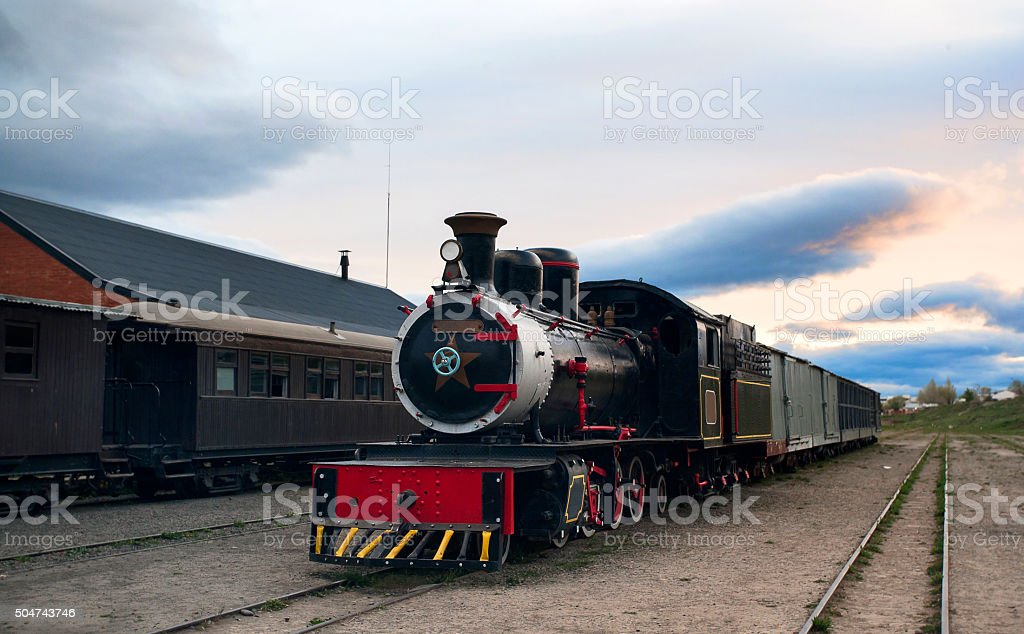 Old Patagonian Express, Esquel, Chubut Province, Patagonia, Argentina stock photo