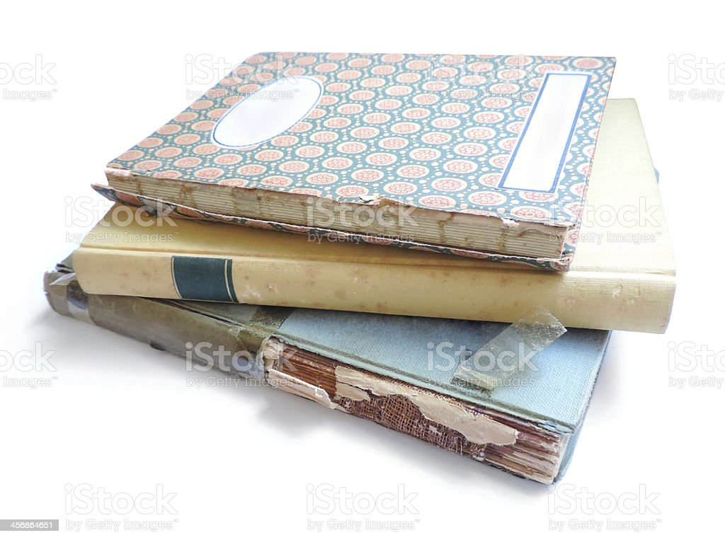 old patched books royalty-free stock photo