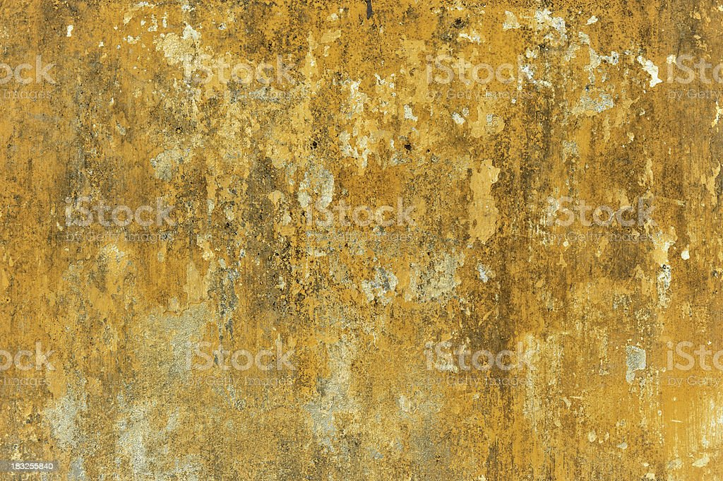 Old patchy painted wall stock photo