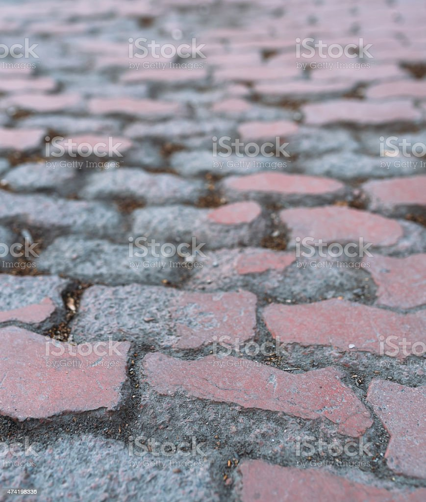 Old pavement in the city stock photo