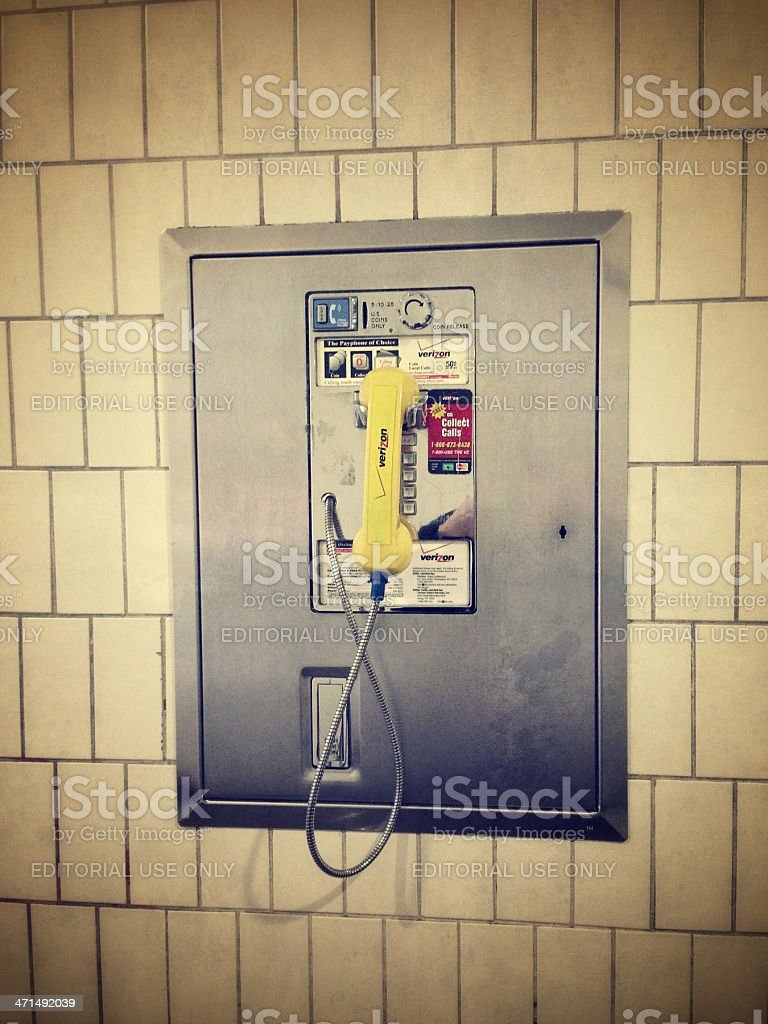 Old Pay Phone in New York City royalty-free stock photo
