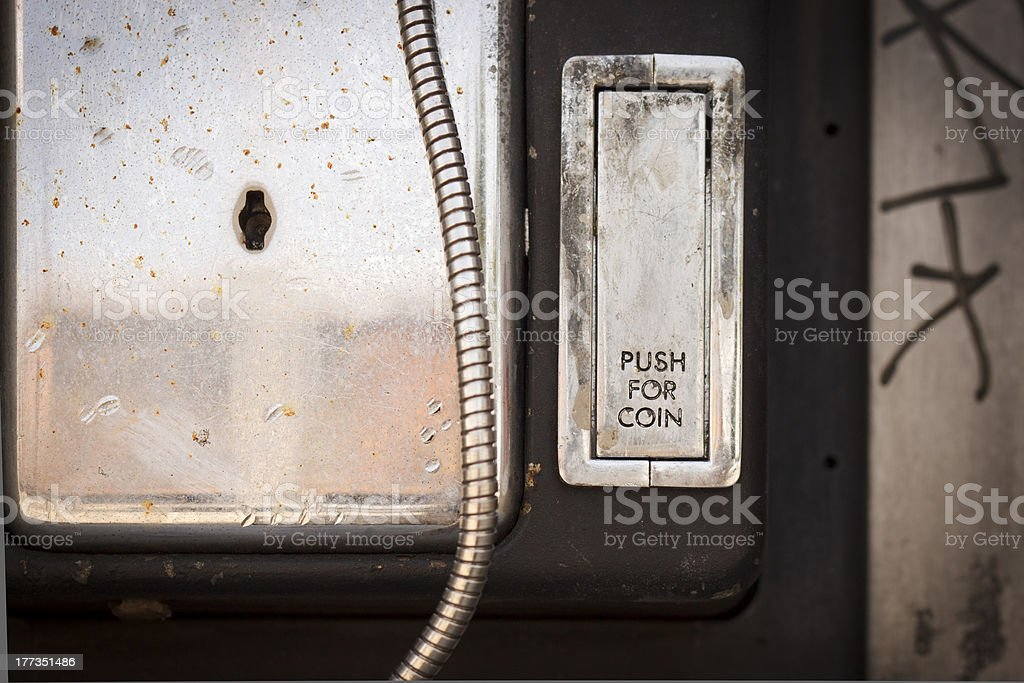 Old Payphone Change Slot royalty-free stock photo