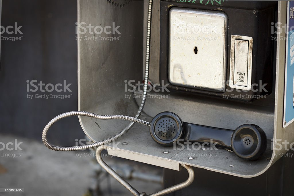 Old Payphone stock photo