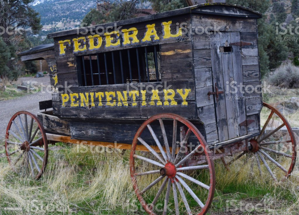 Old Penitentiary Wagon stock photo