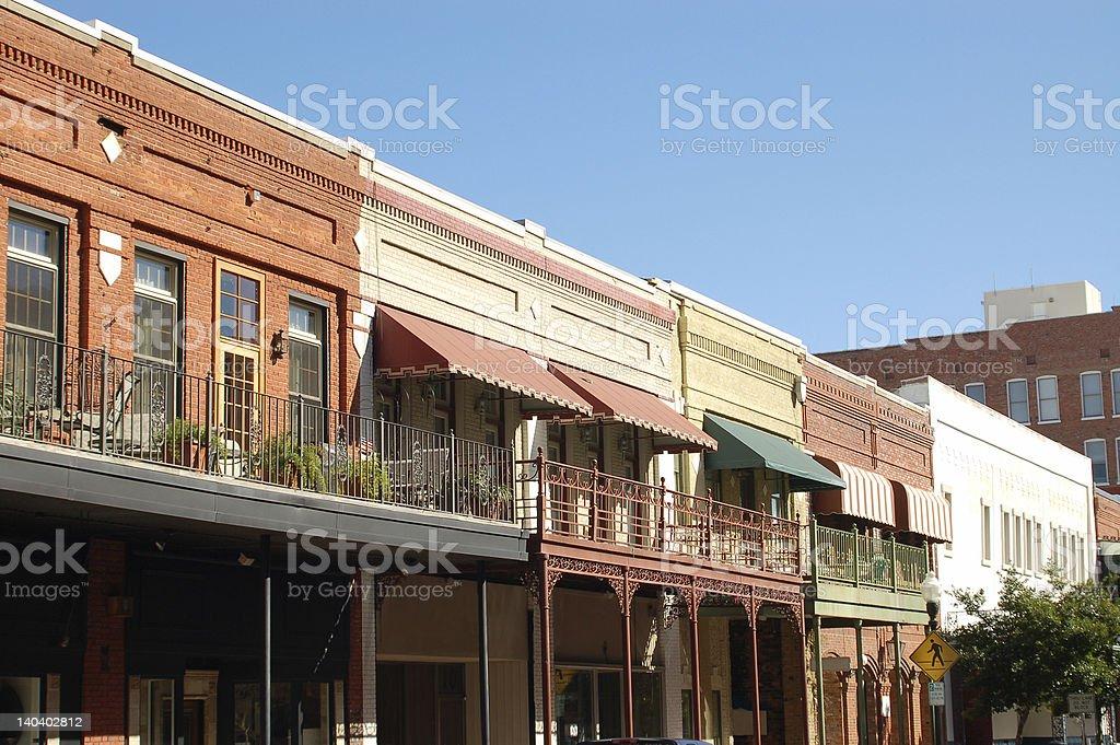 Old Pensacola Buildings stock photo