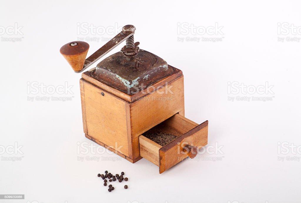 old pepper grinder stock photo