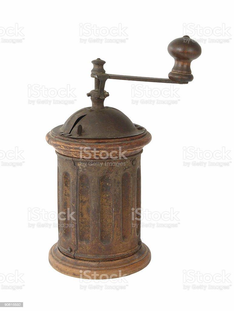 Old pepper mill royalty-free stock photo