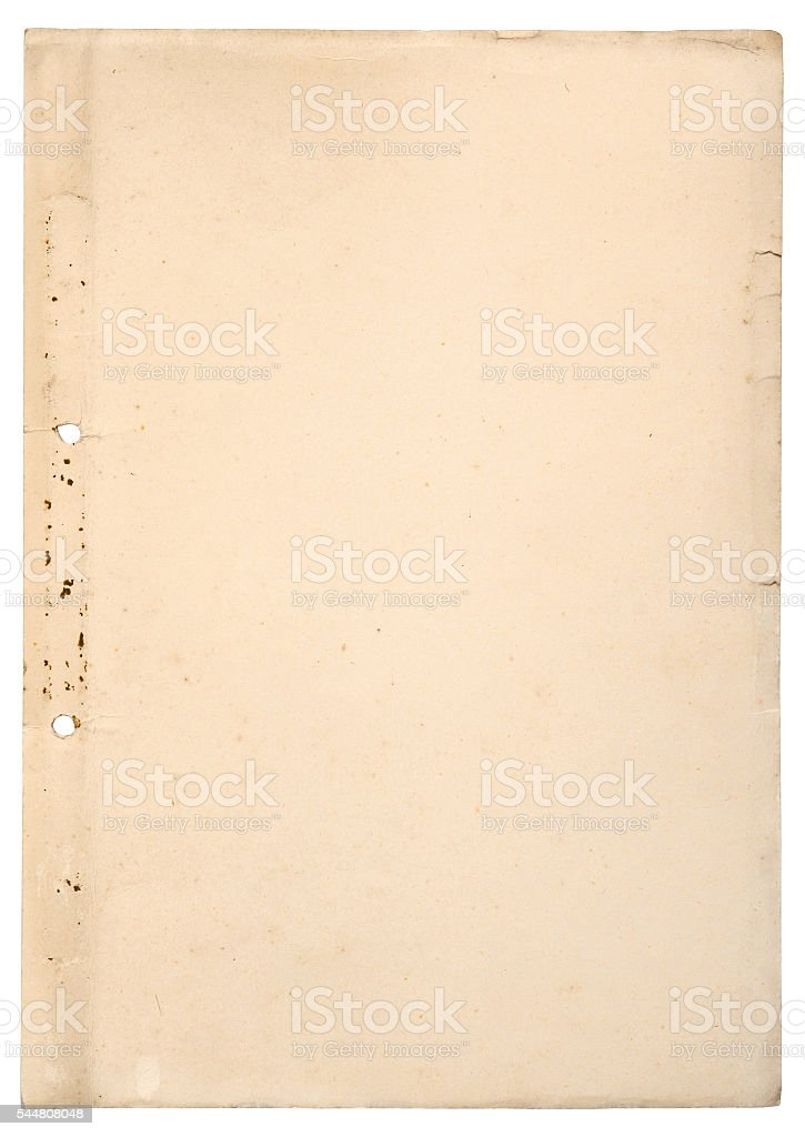 Old perforated paper background stock photo